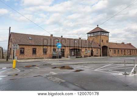 Historical View Of Auschwitz Death Camp In Color