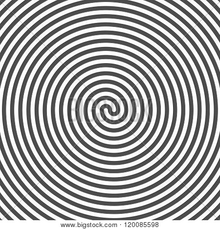 Hypnotic Spiral Background. Vinyl Grooves. Optical Illusion. Vec