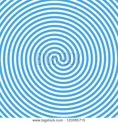 Blue Water Whirlpool. Abstract Spiral Background. Vector