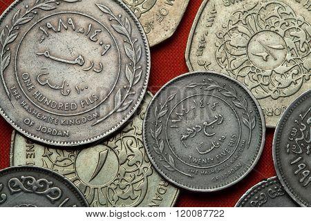 Coins of Jordan. Jordanian 25 fils coin.