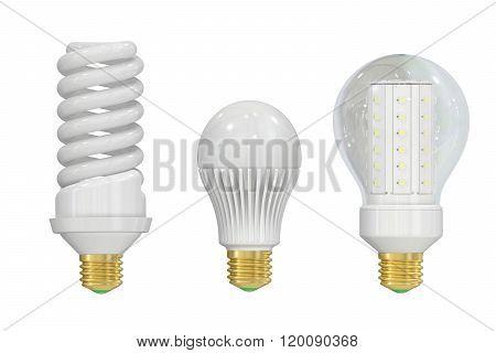 Led (light Emitting Diode) And Saving Lamps
