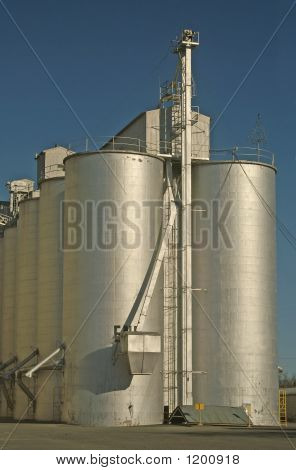 Silos Central Valley California
