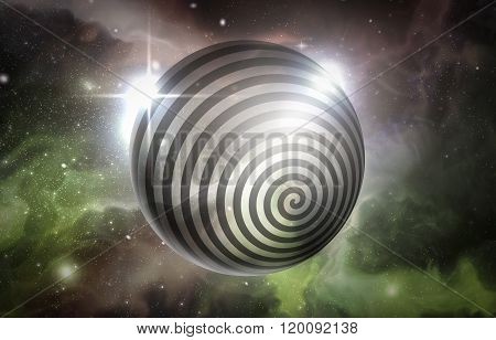 Psychedelic hypnosis swirl universe starscape optical illusion illustration poster