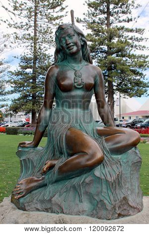 Napier, NZ - March 6, 2015: 'Pania of the Reef