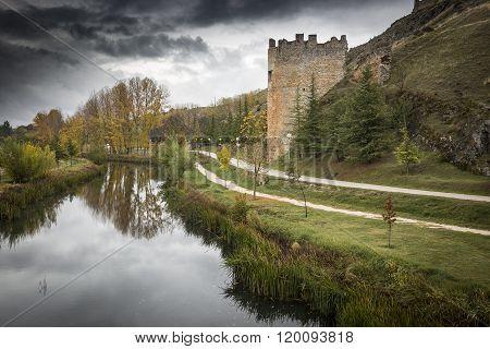 Ucero river in El Burgo de Osma