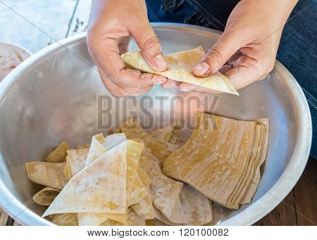 Preparation For Wonton Wrappers