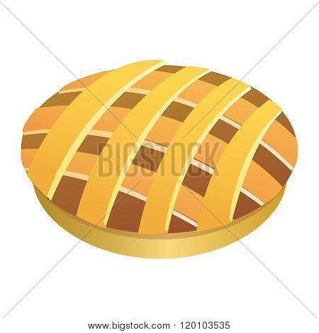 Vector Fresh Apple Pie, Meat Pie Illustration