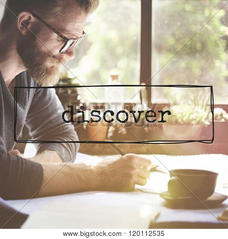 Businessman Working Encounter Discover Word Concept
