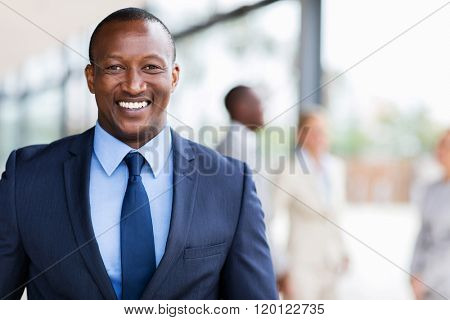 smart african american business man in modern office