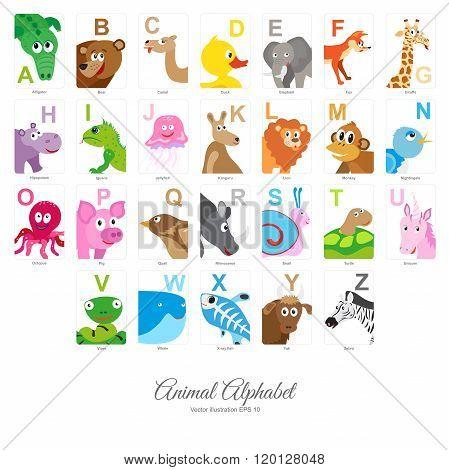 Flat Animal Alphabet
