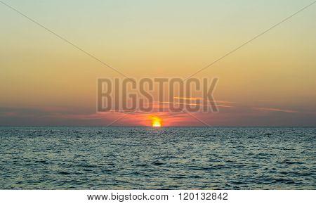 Sunset At Surin Beach Phuket In Thailand