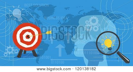 Business Concept Background With Target And Lamp