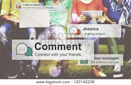 Comment Communication Social Media Response Statement Concept