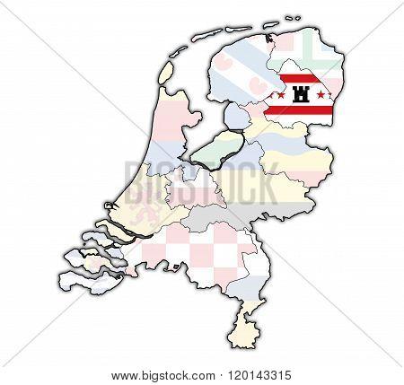Drenthe On Map Of Provinces Of Netherlands
