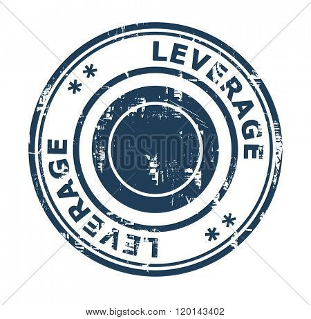 Business leverage concept stamp isolated on a white background.