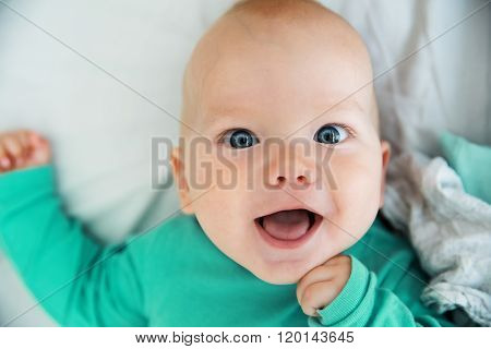 Portrait of a cheerful baby