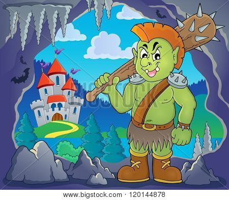Orc theme image 2 - eps10 vector illustration.
