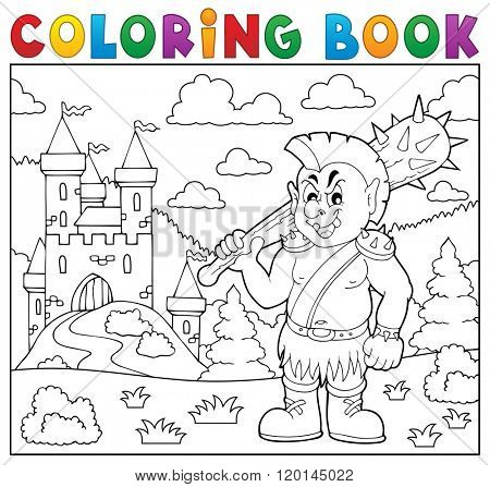 Coloring book orc theme 2 - eps10 vector illustration.