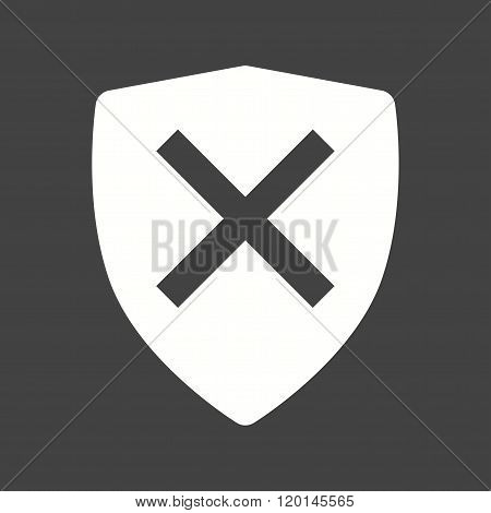 Unprotected, unsafe, alert  icon vector image.Can also be used for security. Suitable for mobile apps, web apps and print media. poster
