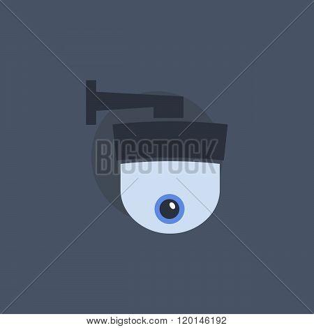 Security camera symbol. Security camera concept in flat style. Security camera sign. Security camera