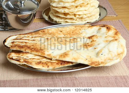 Indian naan flatbreads