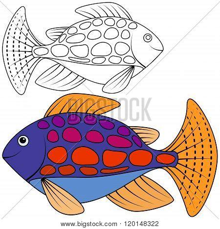 Abstract Fish Vector