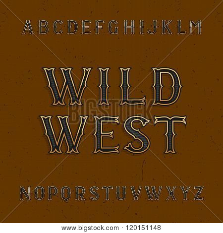 Wild West alphabet vector font