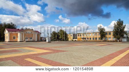 Central square. Panino. Russia