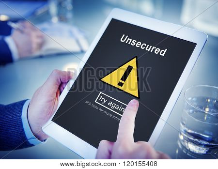 Unsecured Protection Privacy Confidential Anti-virus Concept