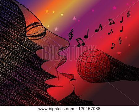 Female Singer Performance