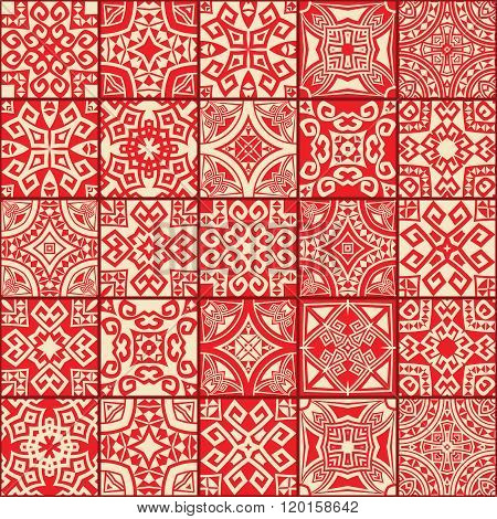 abstract geometric ethnic seamless textures