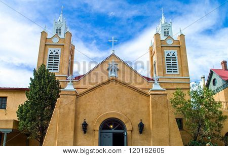 U.S.A., New Mexico, Route 66, Albuquerque, the San Filippo cathedral in the old town