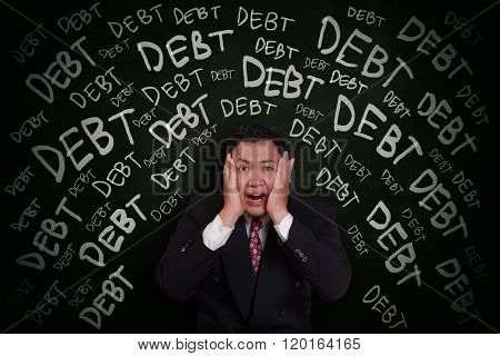 Businessman Under Pressure Of Debt