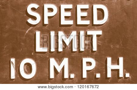 Speed Limit Sign Vintage