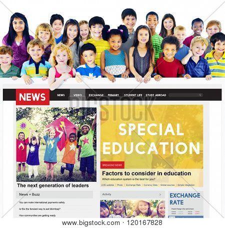 Special Education Studying School Behavior Concept