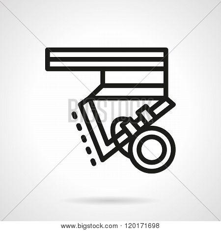 Longboard parts black line design vector icon
