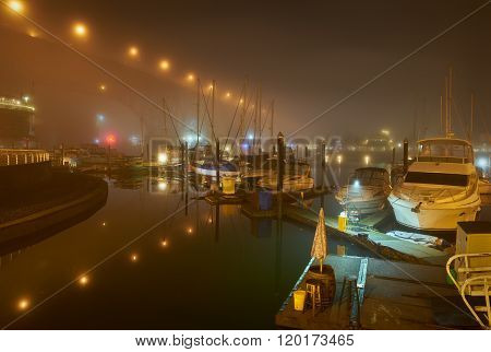 False Creek Night Fog, Vancouver