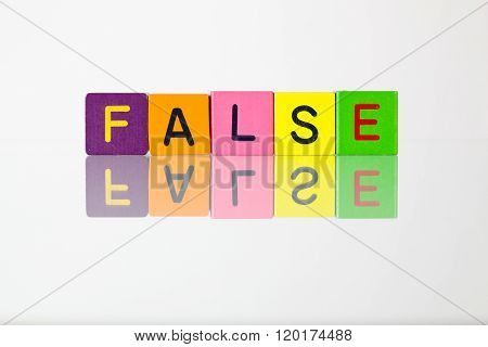 False  - An Inscription From Children's Blocks