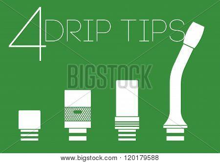4 Drip Tips Set