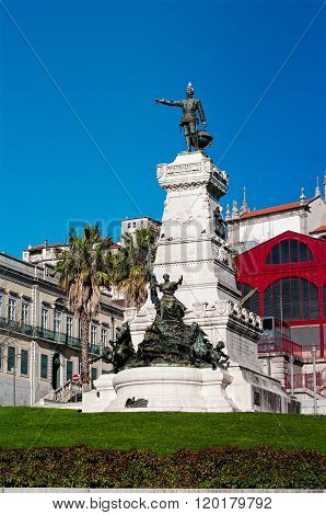 Statue of Prince Henry the Navigator in Porto. Portugal. (The Estatua do Infante D. Henrique) poster