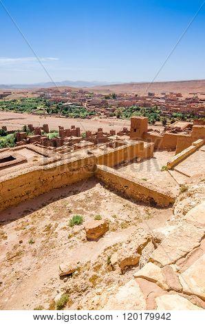 Ait Benhaddou,fortified city, kasbah or ksar in Ouarzazate, Morocco