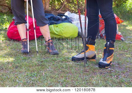 Legs of Hikers