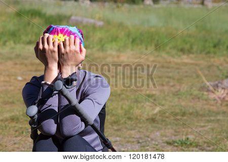 Upset Female Hiker