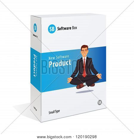 White cardboard software box