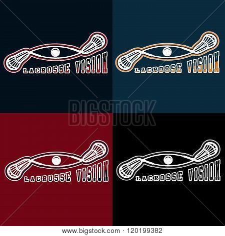 Lacrosse Vision Vector Design Template . Concept Of Graphic Clipart Work