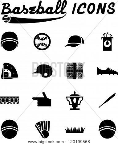 Flat Design Icons Of Baseball . Concept Of Graphic Clipart Work
