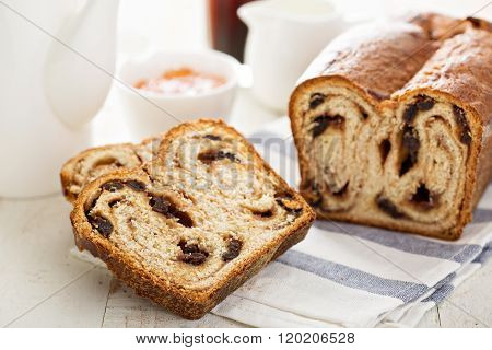 Cinnamon raisin bread for breakfast