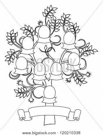 Empty And Creative Family Tree