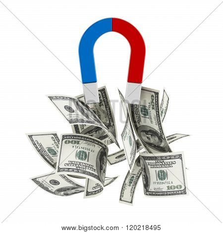 Magnet Draws Money Pile