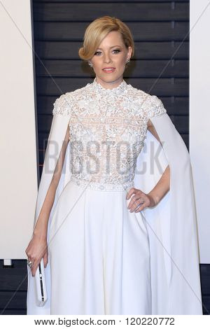 BEVERLY HILLS - FEB 28: Elizabeth Banks at the 2016 Vanity Fair Oscar Party on February 28, 2016 in Beverly Hills, California